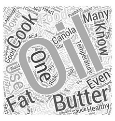 Cooking With Oils Word Cloud Concept vector