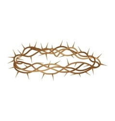 Crown thorns isolated icon vector