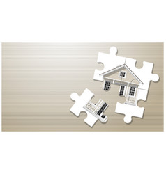 dream house concept with puzzle house vector image