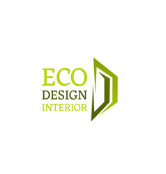 eco design interior emblem vector image