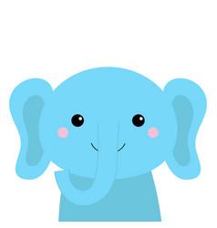 elephant animal icon cute cartoon kawaii baby vector image