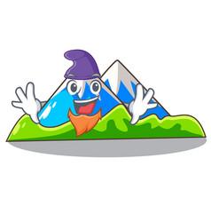 Elf beautiful mountain in the cartoon form vector