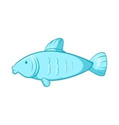 Fish icon cartoon style vector
