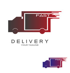 Freight logo with a truck concept vector