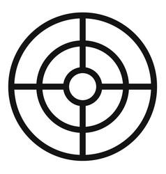 Futuristic aim scope icon simple style vector