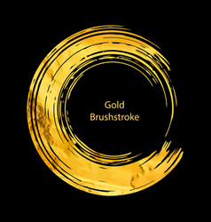 gold round design templates for for poste vector image