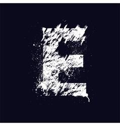 Grunge letter E vector