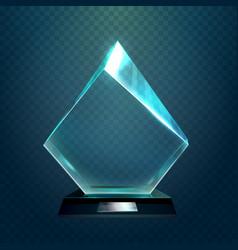 hexadecimal or rhombus sport victory cup trophy vector image