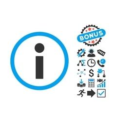 Info Flat Icon with Bonus vector image