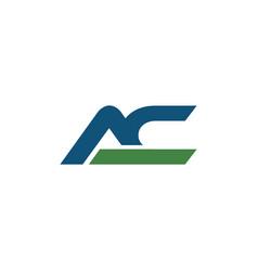 Initial ac logo bold template vector