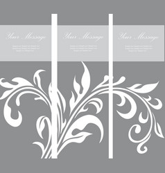 Invitation vintage floral card vector