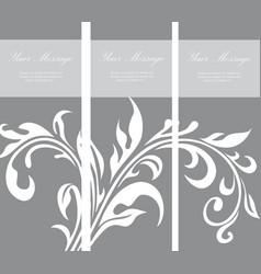 Invitation vintage floral card vector image vector image