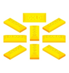 Isometric golden bar vector
