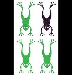 Jumping cartoon frog silhouette vector