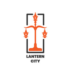 lantern city pole logo design inspiration vector image