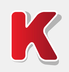letter k sign design template element new vector image