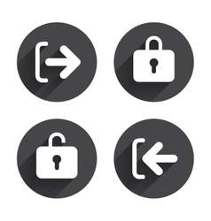Login and Logout icons Sign in icon Locker vector image