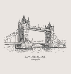 London bridge vintage vector