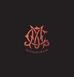 Luxury monogram cm vector
