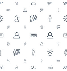 Member icons pattern seamless white background vector
