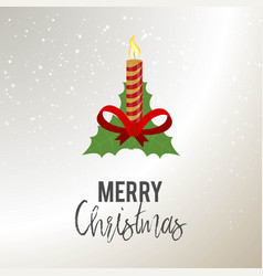 merry christmas candle background vector image
