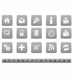 Metallic web icons vector