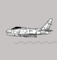 North american fj-4 fury vector