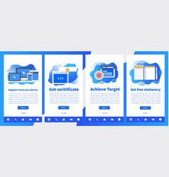 online academy or online education ui vector image