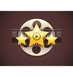 Online cinema icon logo vector