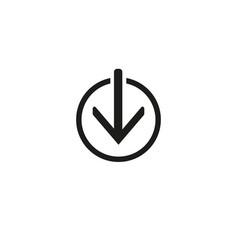 outline download icon symbol vector image