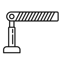 Parking barrier icon outline style vector