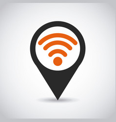 pin with wireless signal vector image