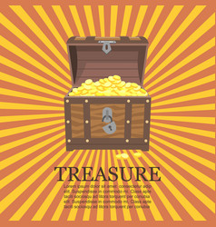 pirates trunks chests with gold coins treasures vector image
