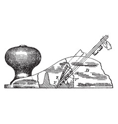 plane tool vintage vector image