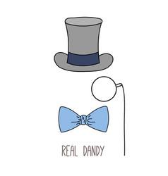Real dandy top hat poster vector