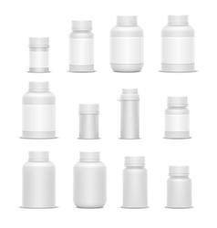 Realistic plastic packaging medicine vector