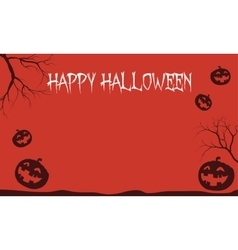 Red Backgrounds Halloween pumpkins vector