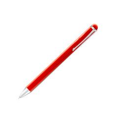 red ballpoint pen icon shiny metal written vector image