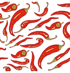 Red hot chili peppers seamless vector