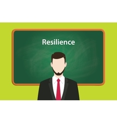 Resilience concept with business man vector
