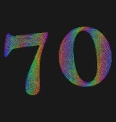 Retro stenciled font vector