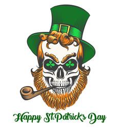 saint patrick skull vector image