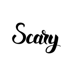 Scary Blck Lettering vector image