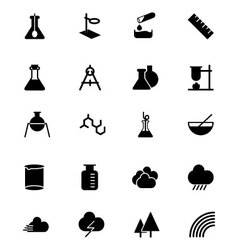 Science Solid Icons 6 vector