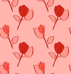 Seamless pattern with flowers background vector