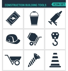 Set modern icons Construction Building vector image
