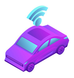 smart car icon isometric style vector image