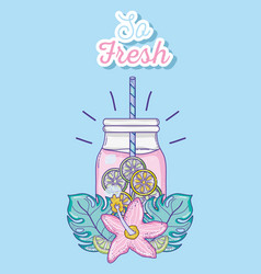 so fresh summer juice vector image