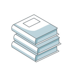 Stack books literature library learn read vector