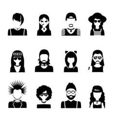 Subcultures People Black And White vector